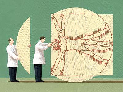 Brain Surgery - Adam Niklewicz illustrationzone magazine illustration conceptual art health brain illustration digital illustrator artwork editorial art editorial illustration conceptual illustration illustration