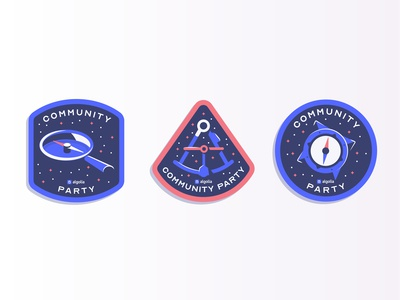 New Algolia Community party stickers