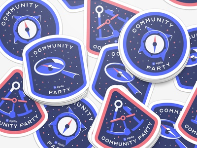 Algolia Community Party Stickers