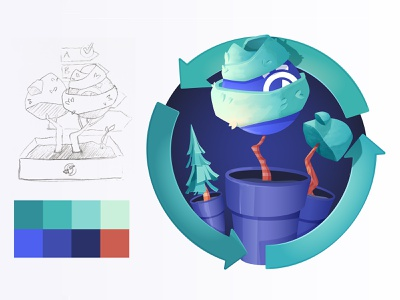 Carbon Neutral charity carbon neutral green flower pot tree vector illustration algolia search