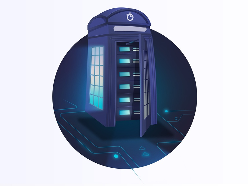 Algolia UK infrastructure expansion light illustration phone booth drwho infrastructure data datacenter algolia search