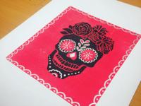 Candy Skull Blockprint