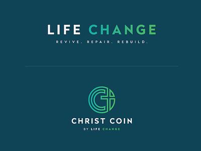 Life Change religious mark gradient logo
