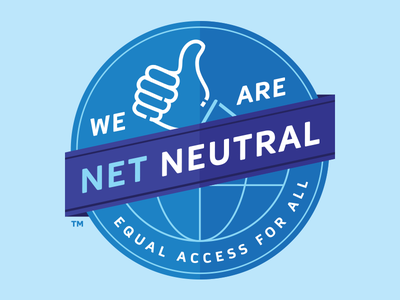 Net Neutral internet lineart design logo