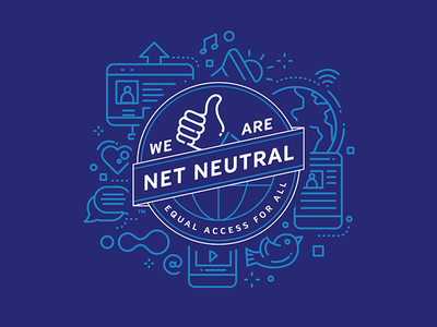 Net Neutral Shirt illustration shirt design logo