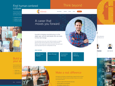 Incentrik Careers website design website ui