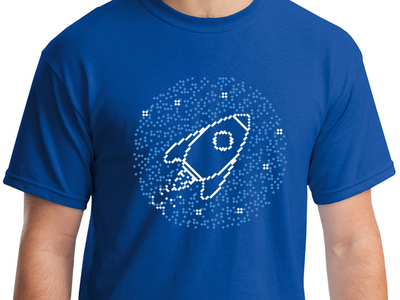 Activate Conference T-Shirt 2color stars rocket pixelated shirt tshirt