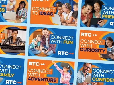 RTC Connect Campaign friends family telecommunications typogaphy
