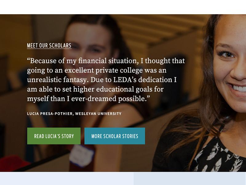 LEDA website education website web design nonprofit