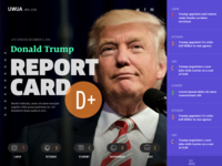 Donald Trump Report Card