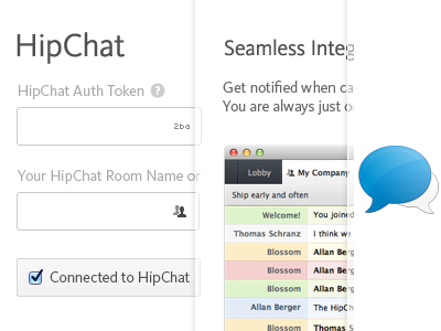 Hipchat integration dribbble