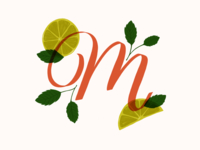 M is for Mojito // 36 Days of Type