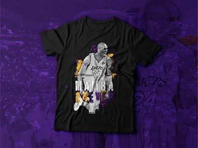 Mamba 24EVER nba basketball apparel design photoshop kobe bryant