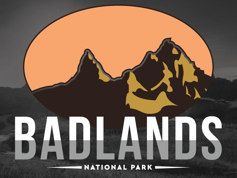 National Park Challenge: Badlands illustration challenge vector centennial nps badlands