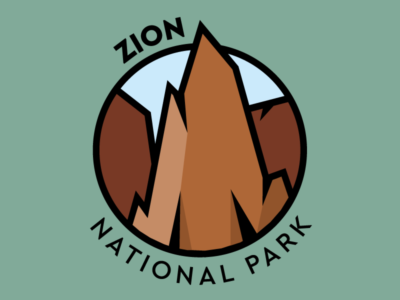 National Park Challenge: Zion illustrator vector nps zion national park