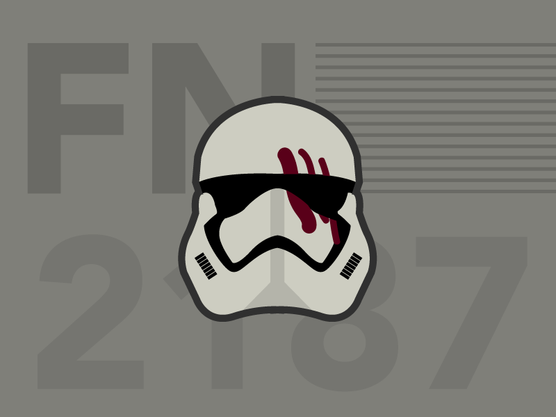 FN-2187 Jakku Aftermath typography illustration vector the force awakens traitor storm trooper fn 2817 star wars