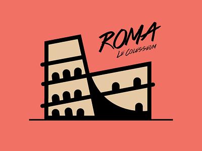Le Colesseum rebound illustrator vector colesseum rome italy