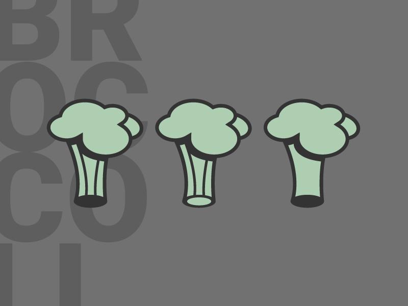 Broccoli asset (WIP) illustrator vector vegetable