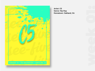 Hour Poster Challenge: Week one spotify brush type vector challenge illustrator