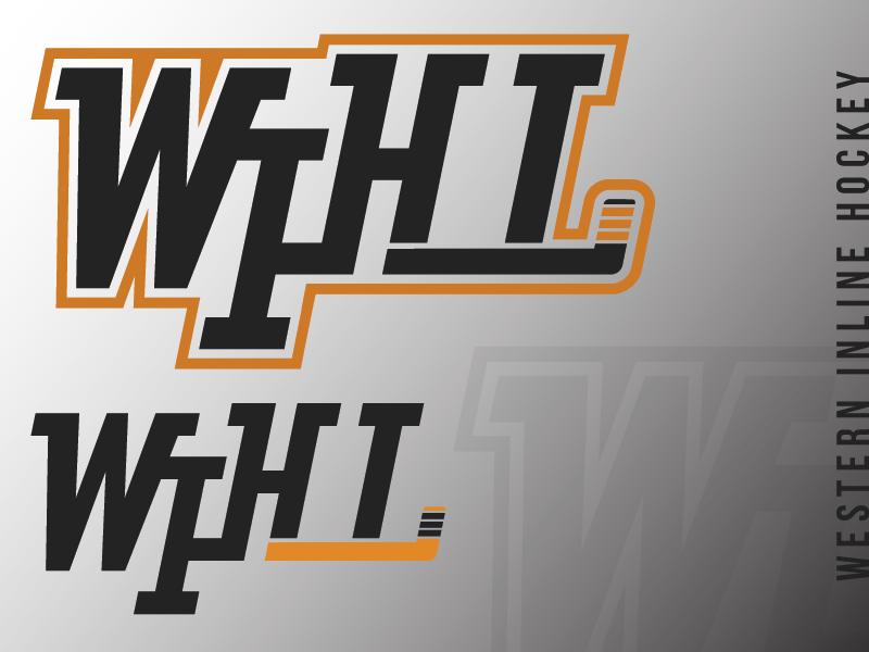 Western Inline Hockey (WIP) illustrator typography vector california roller hockey