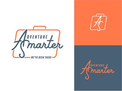 Adventure Smarter (Final) suitcase travel design logo brand identity typography vector illustrator