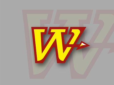 Woodbridge HS illustrator logo roller hockey brand illustration hockey identity vector