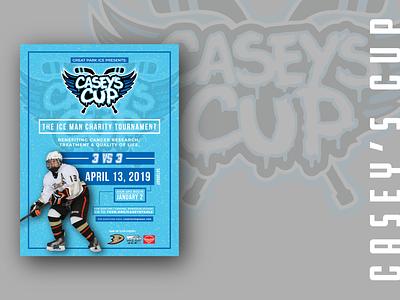 Casey's Cup hockey typography illustrator illustration vector california orange county ice hockey