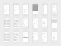 UI/UX Wireframes