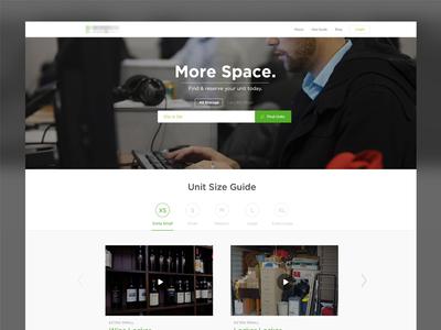 Storage Company WIP storage mobile flat material clean ios8 app iphone ui