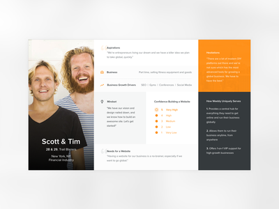 Persona Cards user users profiles personas ui grey card minimalism clean persona