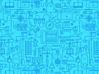 Weebly Factory wip blue pattern