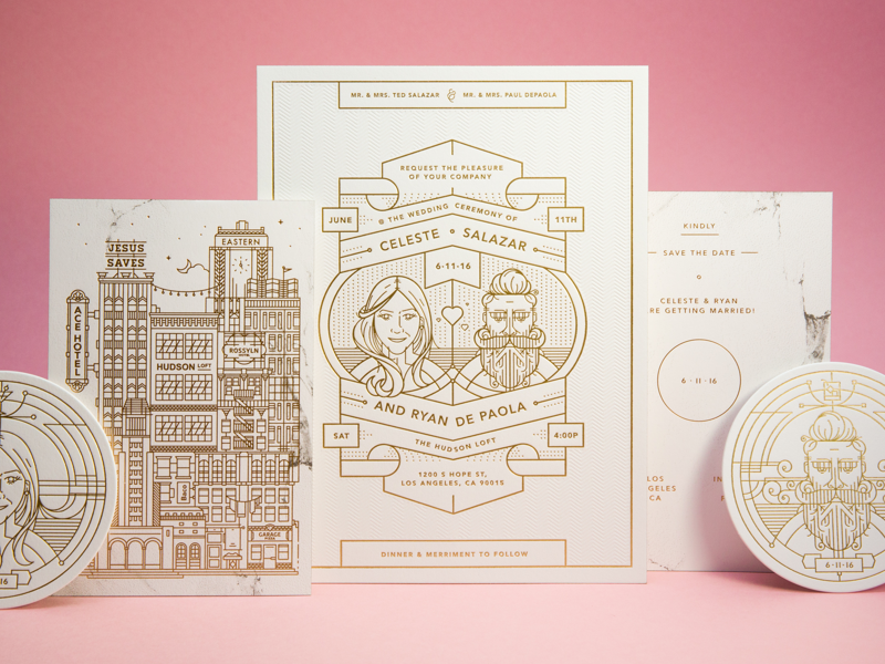 Los Angeles Wedding Invitations: DePaola Wedding Invitations By Ryan DePaola
