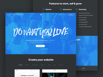 Homepage 2.0 drag services components ui noise shadow colors design 2 homepage landing weebly