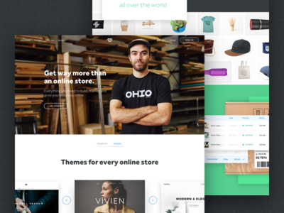 eCommerce Landing drop drag services components ui noise shadow colors design consumer landing weebly