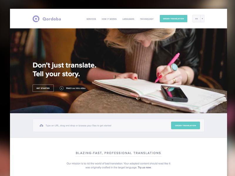 Qordoba homepage 800x600