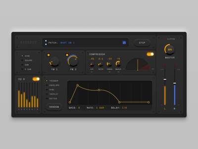 Synth and effects VST UI music software music vst ui squishy synth synthesizer ui design ui vst