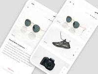 Shop Minim.al — Mock app for Flinto tutorials