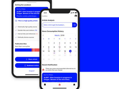 Lowdown - Thesis project UI iphone x ik blue ux design ui design