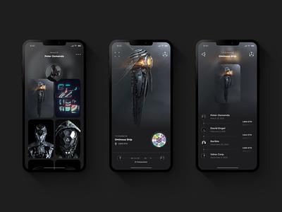 The Concept of Digital Ownership dark ui future futuristic futurism mobile ui mobile transaction bitcoin etherium eth metaverse ownership nft dark app digital dark