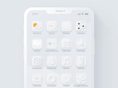 Blizzard Home Screen Theme design light mode theme minimal clean apple homescreen white icons ui