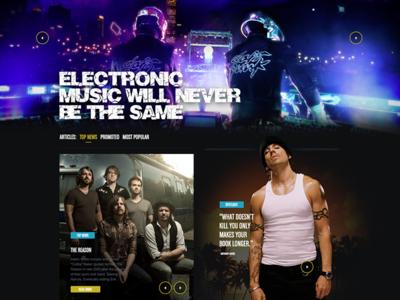 Soundscape music articles article dark design website webdesign