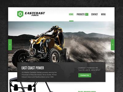 East Coast Power Website landing page sport powersports grunge website design web