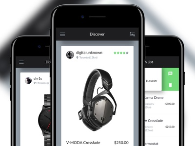 Garage Sale App interaction swipe buysell buy ux ui design app mobile