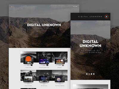 Digital Unknown Redesign 2014 webdesign mountain rocks portfolio personal grid responsive web design web website