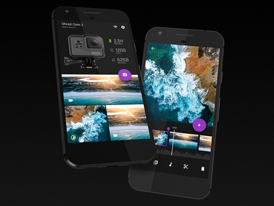 GoPro Android App Remix ui camera movie edit photo video gallery fab material mobile android gopro