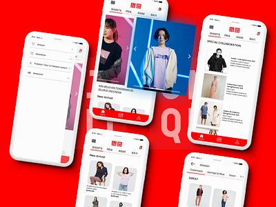 Redesign UNIQLO ID App Part 2 app icon typography design branding