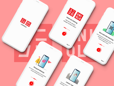 Redesign UNIQLO ID App Part 1 design app illustration graphic design