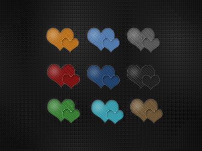 A heart for any occasion heart grid icons