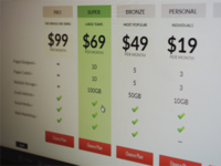 Pricing Plan Grid