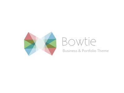 Bowtie Theme Logo logo bowtie geometric existence droid sans